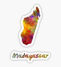 Madagascar in watercolor Sticker