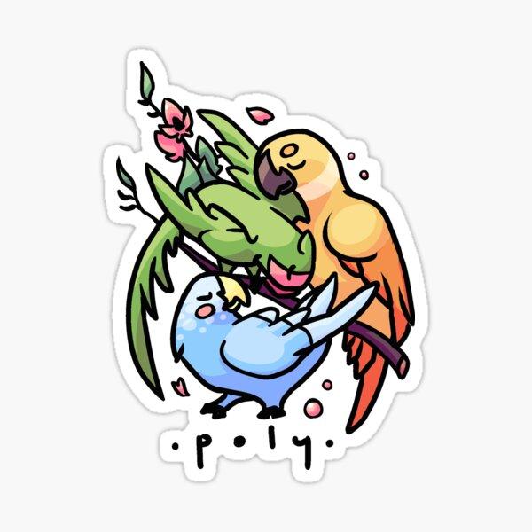 Polyamory Parrots Sticker