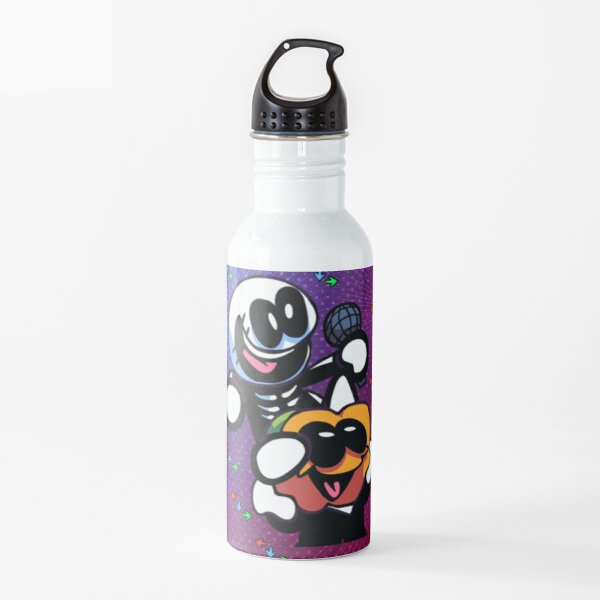 SKID AND PUMP singing and playing happy, FRIDAY NIGHT FUNKIN birthday, Backpack. Water Bottle