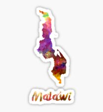 Malawi in watercolor Sticker