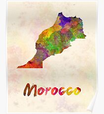 Morocco in watercolor Poster