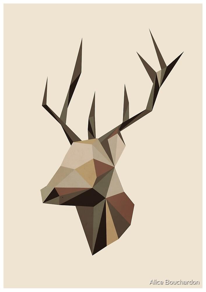 Geometric Deer by Alice Bouchardon
