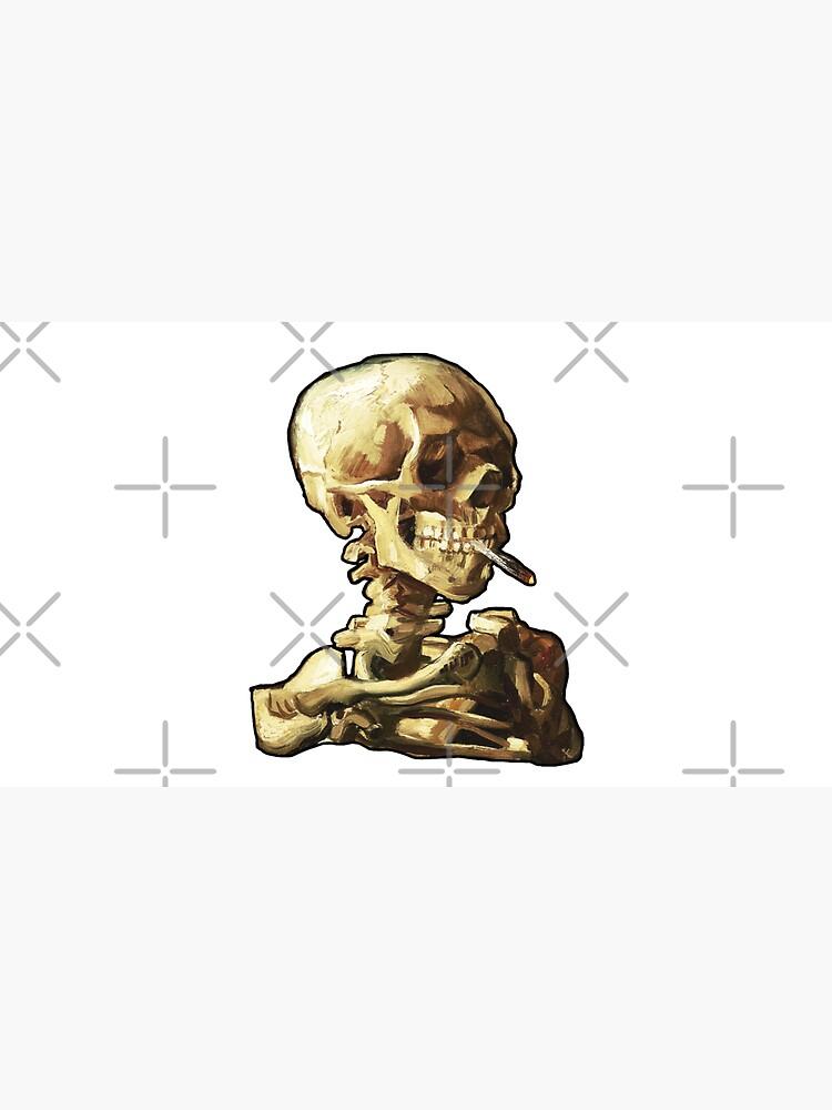 Vincent Van Gogh - Skull of a Skeleton with Burning Cigarette by ind3finite