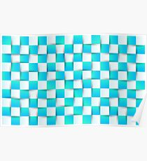 Abstract colorful geometric background Poster