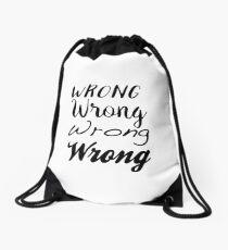 Sherlock - Wrong, Wrong, Wrong, Wrong Drawstring Bag