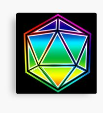 Dungeons and Dragons Pride Dice Canvas Print