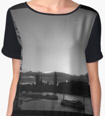 London...London Eye...Thames...blink of a moment...caught it... Women's Chiffon Top