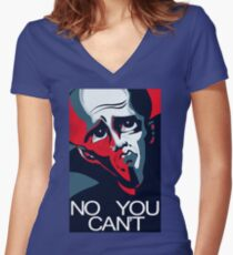 Megamind No You Can't Women's Fitted V-Neck T-Shirt