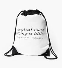 Sherlock - To a great mind... Drawstring Bag