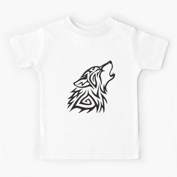 Tribal Wolf Howl Kids T-Shirt