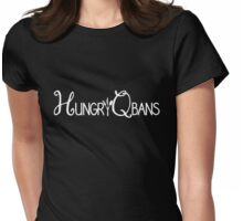 HungryQbans White Womens Fitted T-Shirt