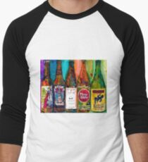 Zombie Dust, Dead Man Ale, Lunch, PlinytheEdler, Centillion Combo Fancy Beer Man Cave Men's Baseball ¾ T-Shirt