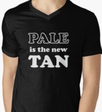 Pale Is The New Tan Men's V-Neck T-Shirt