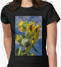Sunflowers In The Sun Women's Fitted T-Shirt