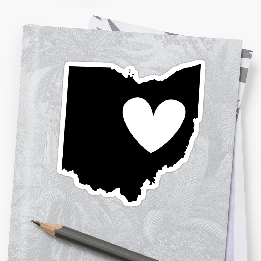Ohio is Where the Heart is (Black) by Ariel James