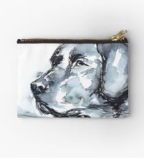 Labrador Retriever, Watercolor Portrait Sketch Zipper Pouch