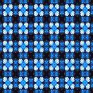 snowflake in blue 2 pattern by Dawna Morton
