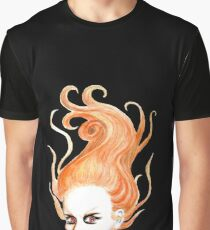 Vampire with Red Hair Graphic T-Shirt