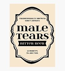 Male Tears Bitter Beer - Bottle Label Design Photographic Print