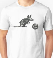 Armadillo Playing Ball Doodle Unisex T-Shirt