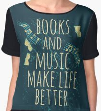 books and music make life better #1 Women's Chiffon Top