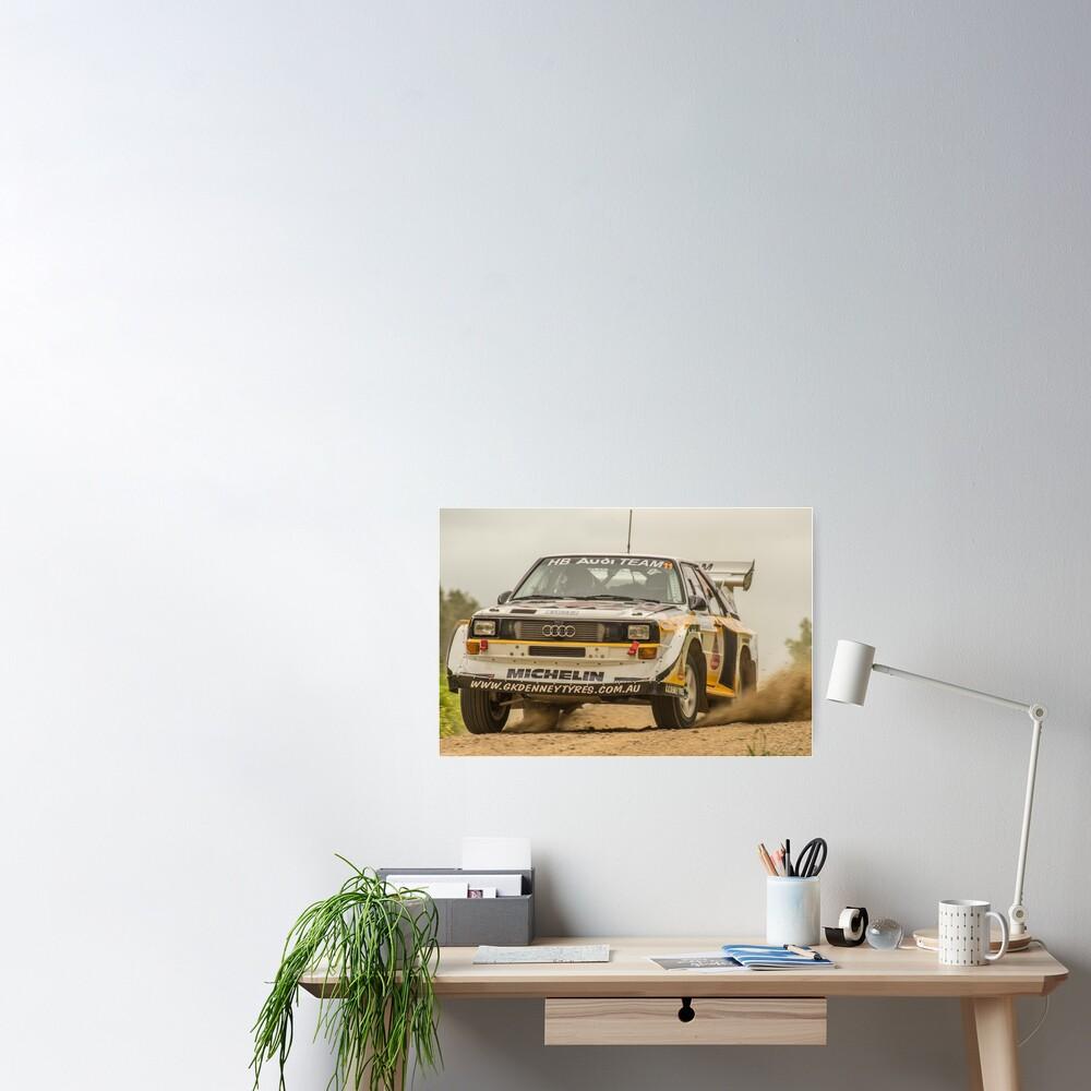 Audi Quattro S1 E2 Replica - Lightforce Rally SA 2016 Poster