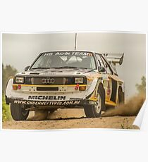 Audi Quattro S1 E2 Replica - Lightforce Rally SA 2016 Poster