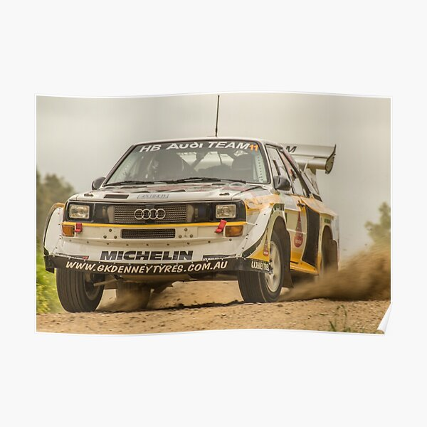 Audi Quattro S1 E2 Replica Lightforce Rally Sa 2016 Poster By Stubear22 Redbubble