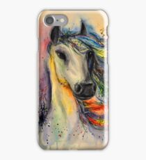 Horse head watercolor painting iPhone Case/Skin