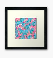soft colors spots Framed Print