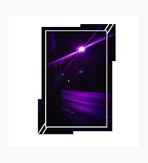 Purple Street at Night Photographic Print