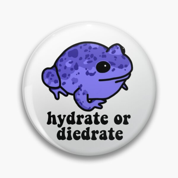 Hydrate or Diedrate Frog Pin