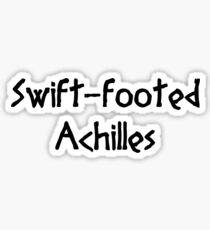 Swift-footed Achilles (Black) Sticker