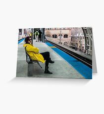 Waiting for the CTA Greeting Card