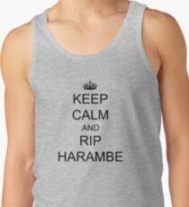 KEEP CALM and RIP HARAMBE Tank Top