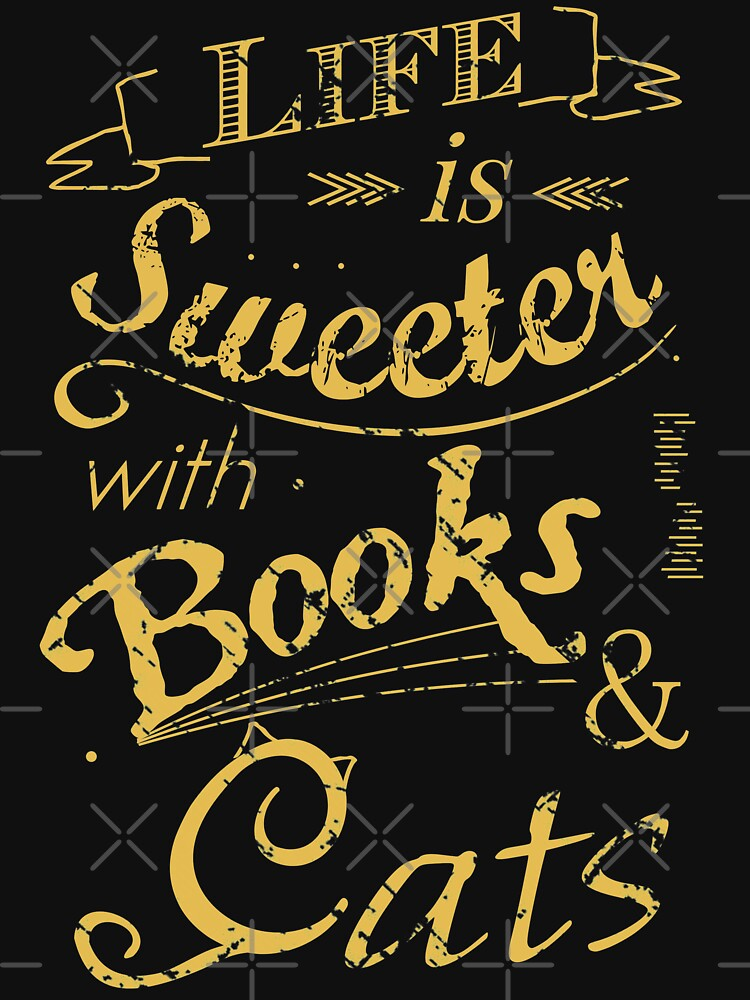 life is sweeter with books & cats #2 by FandomizedRose