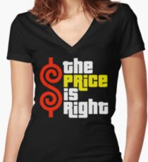 The Price Is Right Reality Show Women's Fitted V-Neck T-Shirt