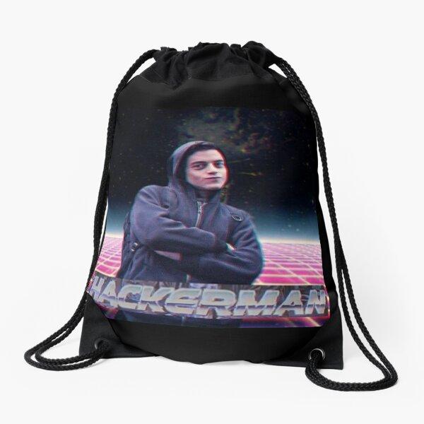 Hacker man Drawstring Bag