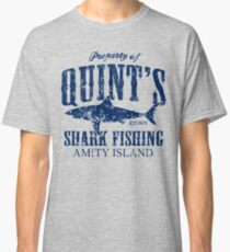 Quints Shark Fishing Amity Island Classic T-Shirt