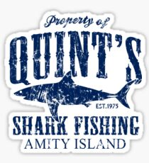 Quints Shark Fishing Amity Island Sticker