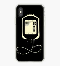 Coffee Transfusion - Black iPhone Case