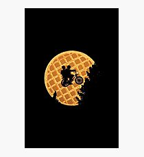 stranger things waffle moon Photographic Print
