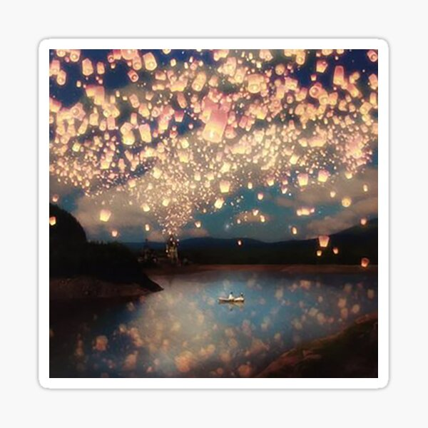 Love Wish Lanterns Sticker