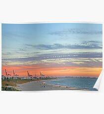 Port Beach Fremantle Western Australia  Poster