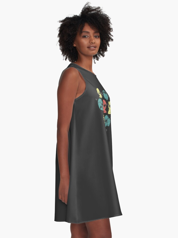 Alternate view of Super Smash Bros A-Line Dress