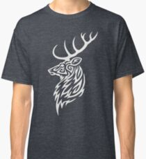 Tribal Stag White Classic T-Shirt