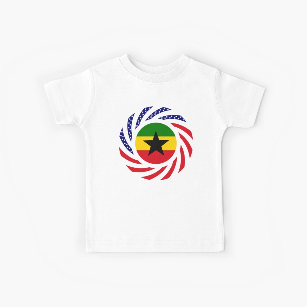 Ghanaian American Multinational Patriot Flag Series Kids T-Shirt