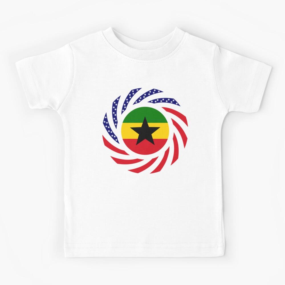 Ghanaian American Multinational Patriot Flag Series Kids T-Shirt