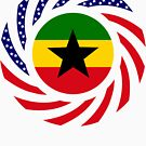 Ghanaian American Multinational Patriot Flag Series by Carbon-Fibre Media