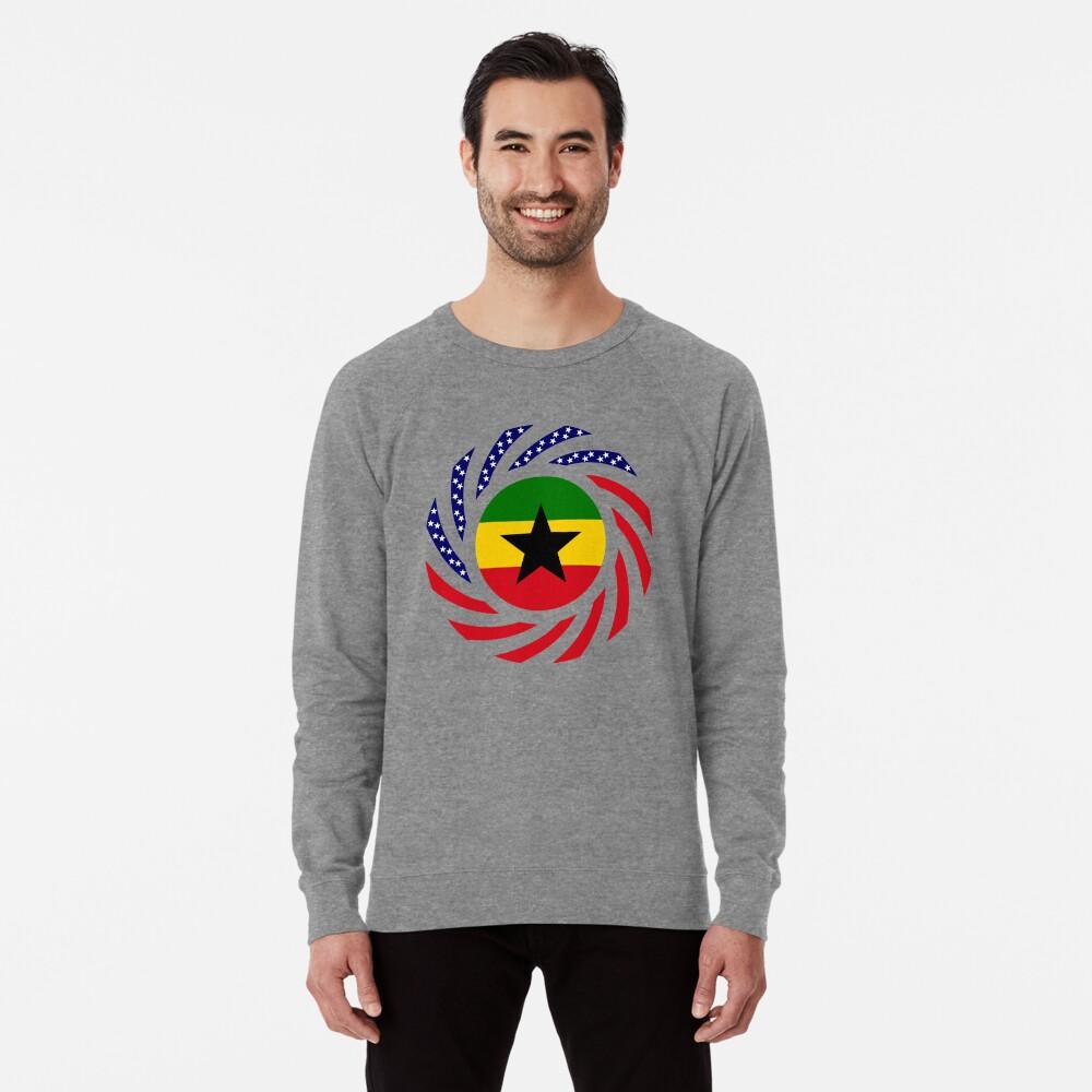Ghanaian American Multinational Patriot Flag Series Lightweight Sweatshirt